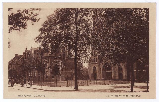 001480 - Kerk en pastorie van de parochie Besterd aan de Koestraat, hoek Leonard van Vechelstraat (H. Leonardus en gezellen).