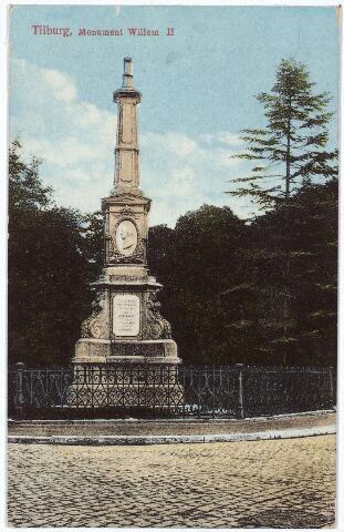 002507 - Gedenknaald voor koning Willem II op de hoek Monumentstraat-Paleisstraat.