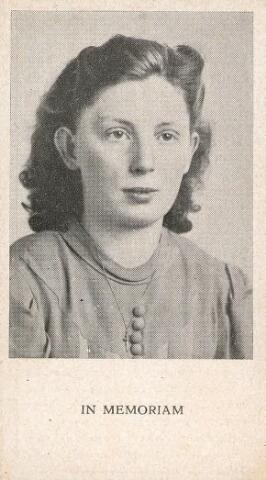 604381 - Bidprentje. Tweede Wereldoorlog. Oorlogsslachtoffers. Hendrika Schepers - van den Ende, geboren op 18 juli 1920 te Haarlem en overleden op 10 april 1945 te Engelsdorf, Duitsland als gevolg van een geallieerd bombardement.