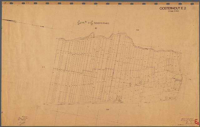104725 - Kadasterkaart. Kadasterkaart Oosterhout Sectie E2, Schaal 1: 2.500