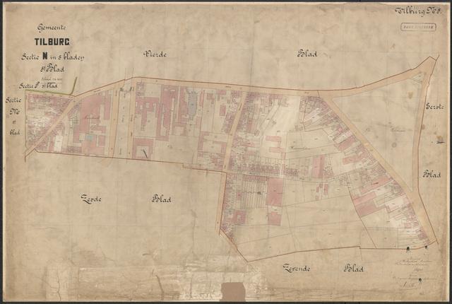 652624 - Kadasterkaart Tilburg, Sectie N (Veldhoven), blad 5. Schaal 1:1000. 1915.