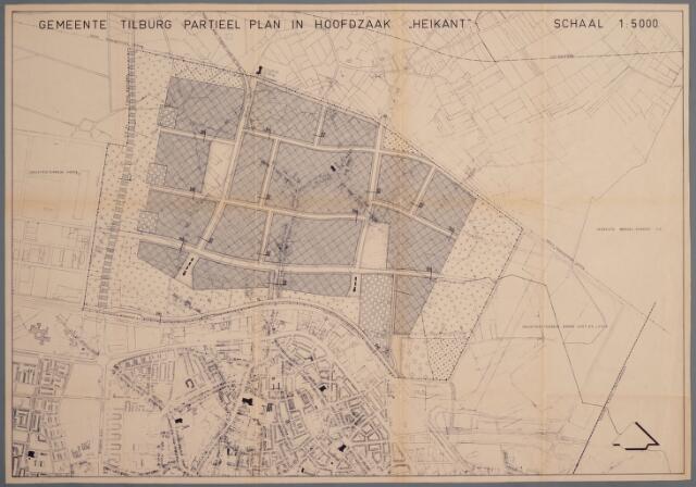 059421 - Kaart. Stadsuitbreiding. Bestemmingsplan Heikant, 1963