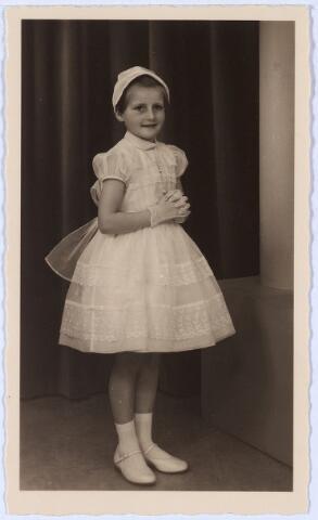 011384 - Bidprentje. Ansje TEMPELAARS op de dag van haar eerste H. Communie, gedaan in de parochiekerk van O.L.V. van Altijddurende Bijstand (Gasthuisstraat) op 15 mei 1958.