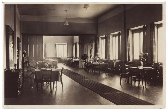 001437 - Leeszaal van de retraitanten in het Cenakel aan de Koningshoeven, nu Kempenbaan.