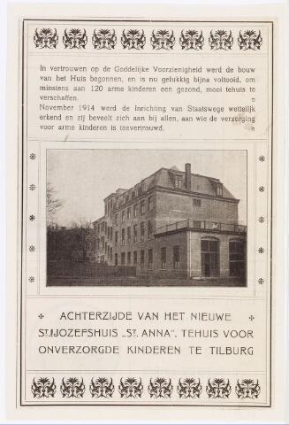034917 - Jeugdhulpverlening. Internaten. Achterzijde van het 'nieuwe' St. Jozefshuis St. Anna, tehuis voor onverzorgde kinderen.