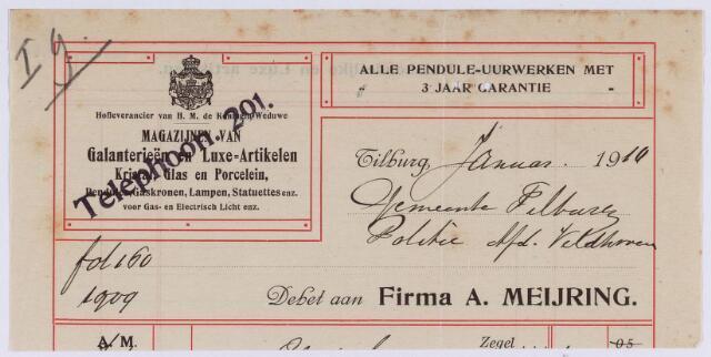 060745 - Briefhoofd. Nota van Firma A. Meijring voor de gemeentye Tilburg