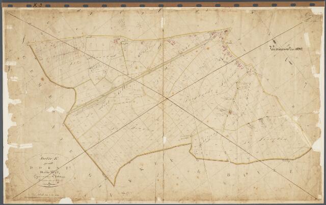 104804 - Kadasterkaart. Kadasterkaart  Oosterhout Sectie K3, Schaal 1 : 2.500, genaamd  Dorst