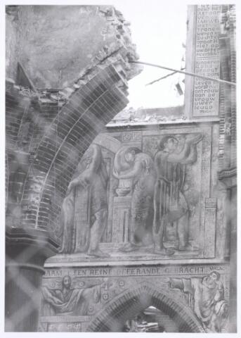 020115 - Sloop van de kerk van het Heilig Hart, parochie Noordhoek, in 1975. De kerk werd gebouwd in 1897/1898 naar een ontwerp van dr. P.J.H. Cuypers