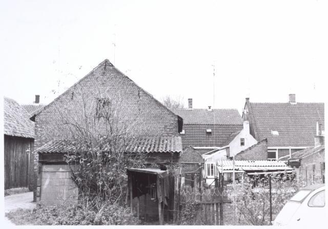 017093 - Achterzijde van e panden Capucijnenstraat 63 en 65 anno 1969