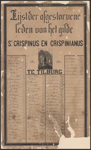 652523 - Lijst van overleden leden van het gilde St. Crispinus en Crispinianus (hoort bij toegang 214 Gilde St. Crispinus en Crispinianus,).