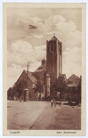 000289 - Links de Voltstraat, op de achtergrond de Broekhovenseweg met de kerk van O. L. Vr. van Goede Raad (Broekhoven I)