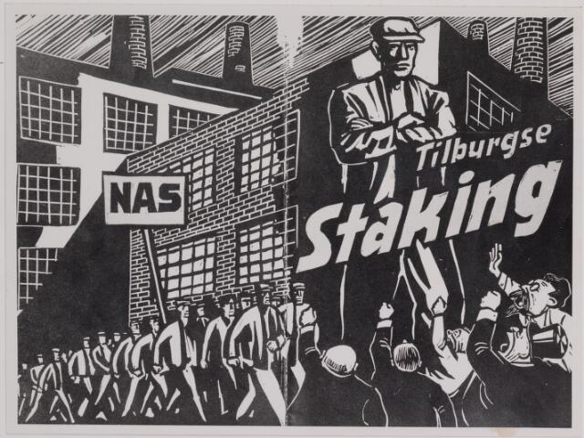 040876 - Textielstaking 1935. Pamfletten, Annonces, mededelingen in de Fakkel het orgaan van het nationaal arbeidssecretariaat, de textielarbeidersbond, de vereniging van Textielfabriekanten, inzake de staking van textielarbeiders op 13 september 1935.