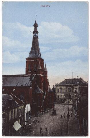 001863 - Oude Markt voorheen de Markt met kerk van het Heike en voormalig gemeentehuis.