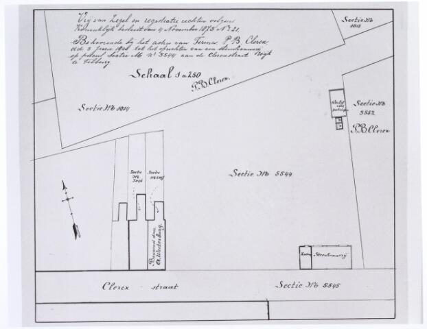 017363 - Kadasterkaart. Deel van de Clercxstraat.