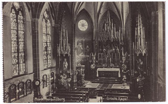 001790 - Interieur van de kapel van het moederhuis van de congregatie der Zusters van Liefde van O.L.V. Moeder van Barmhartigheid aan de Oude Dijk.