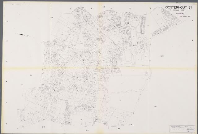 104932 - Kadasterkaart. Kadasterkaart Oosterhout.
