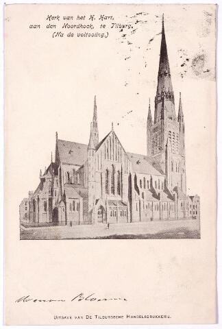 000651 - Hart v. Brabantlaan, voorheen Industriestraat, kerk H. Hart Noordhoek. zoals bedoeld na de voltooiing, de toren is echter nooit gebouwd.