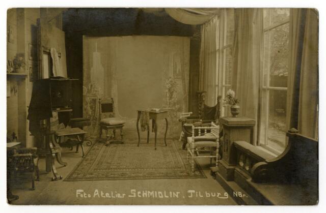 650363 - Schmidlin. De fotostudio aan de Gasthuisstraat omstreeks 1910.