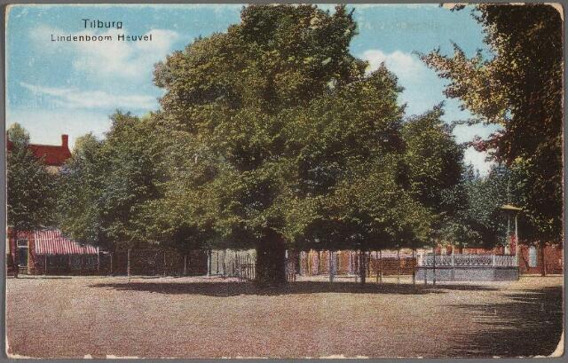 011170 - Heuvel met kiosk en lindeboom.
