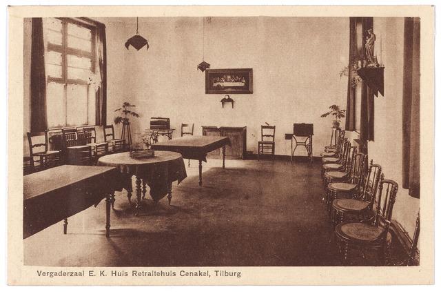 001438 - Vergaderzaal in retraitehuis het Cenakel aan de Koningshoeven, nu Kempenbaan.
