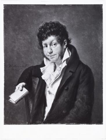 008441 - Schilderij. Adriaan van der WILLIGEN, literator en patriot (Rotterdam 1766 - Haarlem 1841). Woonde van 1792 tot 1801 in Tilburg. Zie foto nr. 8442 Schilderij door Wybrand Hendriks (1744-1831). Olieverf op doek, 31 x 25,5 cm.