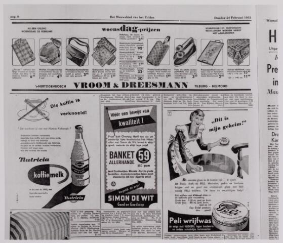040774 - Reclame Annonce Vroom en Dreesmann.