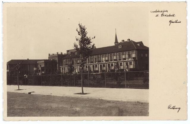000554 - Elisabethziekenhuis. Gezondheidszorg. Ziekenhuizen. Achterzijde St. Elisabethziekenhuis, Klasse-paviljoen. Gerard van Swietenstraat.