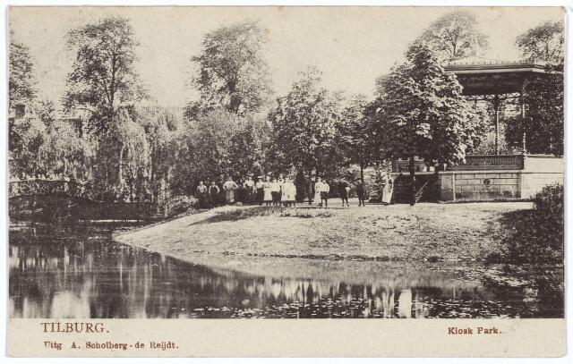 002877 - Wilhelminapark, vijver en muziekkiosk.