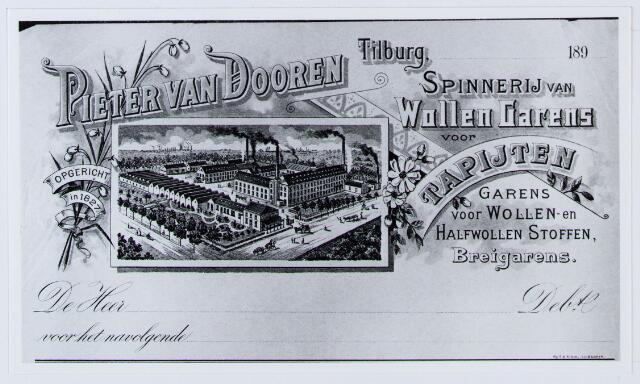 059953 - Briefhoofd. Briefhoofd van Pieter van Dooren, Spinnerij van Wollen garens voor tapijten,