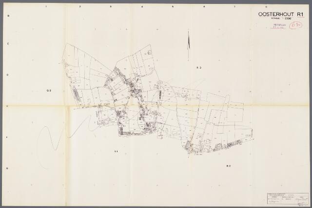 104917 - Kadasterkaart. Kadasterkaart / Netplan Oosterhout. Sectie R1. Schaal 1: 2.500