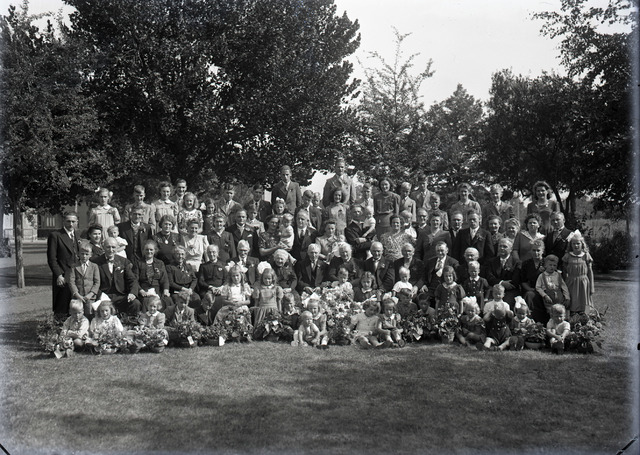654740 - Familieportret in het park.