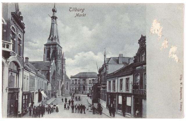 001843 - Oude Markt, voorheen de Markt met de kerk van het Heike en het voormalige gemeentehuis.