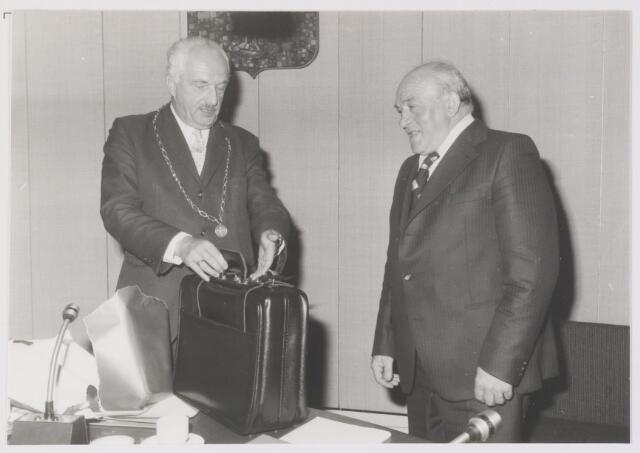 081391 - Dhr. G.A. Boemaars 25 jaar raadslid (van 1-9-1953 tot 1-9-1978).