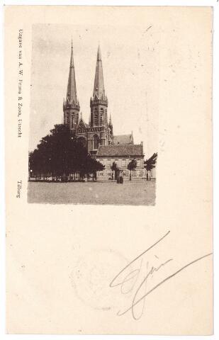 000871 - Kerk St. Jozef op de Heuvel met lindeboom en pomp.