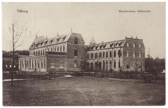 001422 - Achterzijde van het retraitehuis en klooster van O.L.V. van het Cenakel aan de Koningshoeven, nu Kempenbaan.