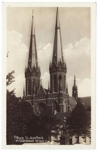001027 - Heuvel, St. Jozefkerk en standbeeld Willem II.