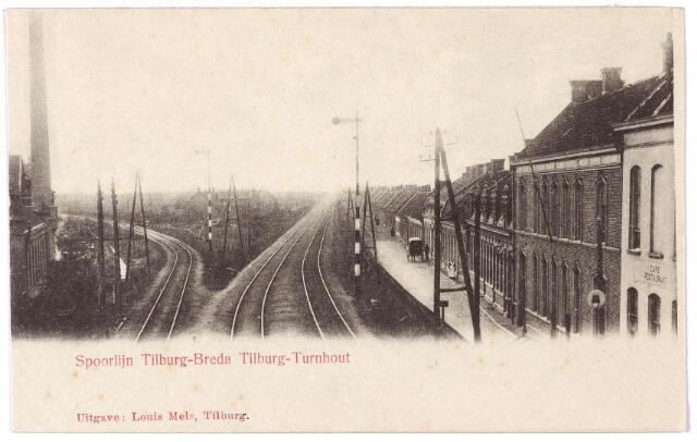 000005 - Alleenhouderstraat ter hoogte van de spoorwegovergang naar de Gasthuisstraat met de spoorlijnen Tilburg-Breda en Tilburg-Turnhout.