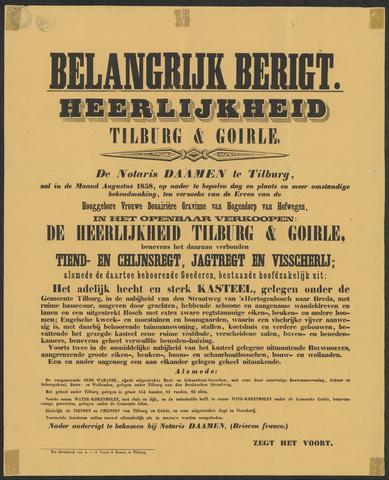 652489 - Verkoop heerlijkheid Tilburg en Goirle, incl. rechten en goederen.
