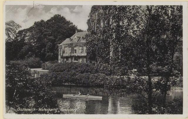 073953 - Hondsberselaan met Huize 'De Hondsberg'  een oude buitenplaats, met waterpartijen, bruggetje, kiosk, pension, restaurant, hotel en opvangtehuis voor slechtziende kinderen o.l.v. dr. Aussems.