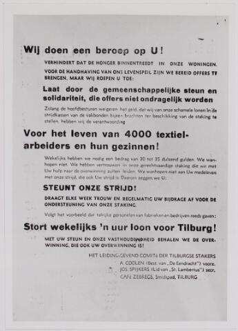 040880 - Textielstaking 1935. pamfletten, Annonces, mededelingen in de Fakkel het orgaan van het nationaal arbeidssecretariaat, de textielarbeidersbond, de vereniging van Textielfabriekanten, inzake de staking van textielarbeiders op 13 september 1935.