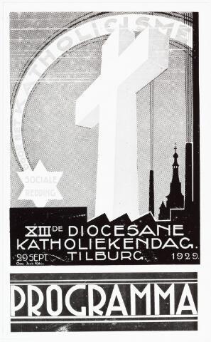 008961 - Programma XIIIde Diocesane Katholiekendag in Tilburg 1929