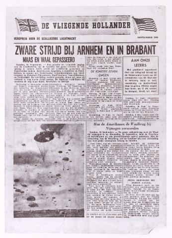 013135 - Tweede Wereldoorlog. Market Garden. De Vliegende Hollander doet verslag van de luchtlandingactie in het kader van operatie Market Garden halverwege september 1944