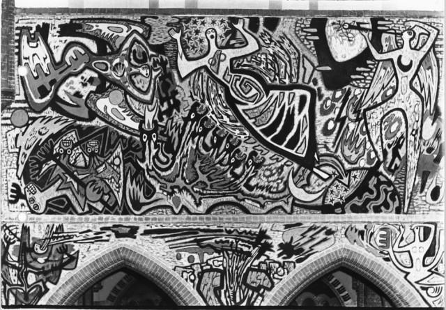 1238_F0236 - Muurschildering in de Noordhoekse kerk door Egbert Dekkers
