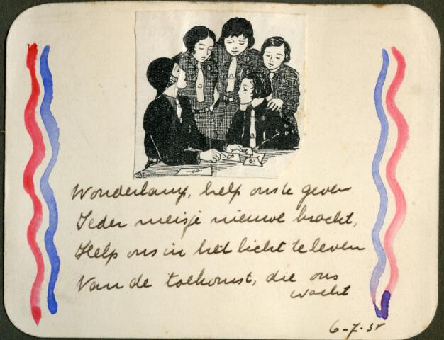 604618 - Tilburgse padvindsters; Kaart met gedicht