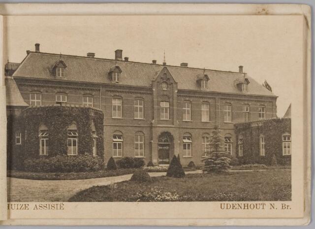 """078326 - Udenhout 1930: """"Huize Assisië"""". Gesticht voor mannelijke zwakzinnigen van den R.K. godsdienst."""