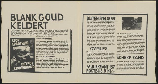 668_1984_157 - Muurkrant: Blank goud keldert