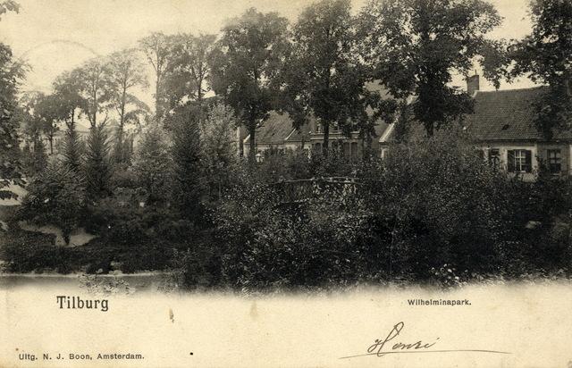 652735 - Tilburg, poststempel 1902 Wilhelminapark Henri aan Cornelia.