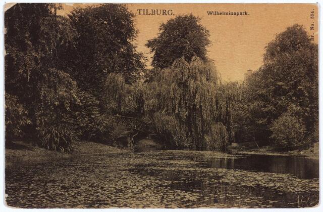 002942 - Wilhelminapark, vijver en brug.