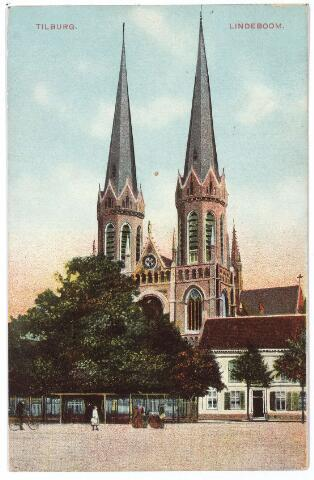 000958 - Kerk St. Jozef, pastorie en lindeboom, Heuvel.