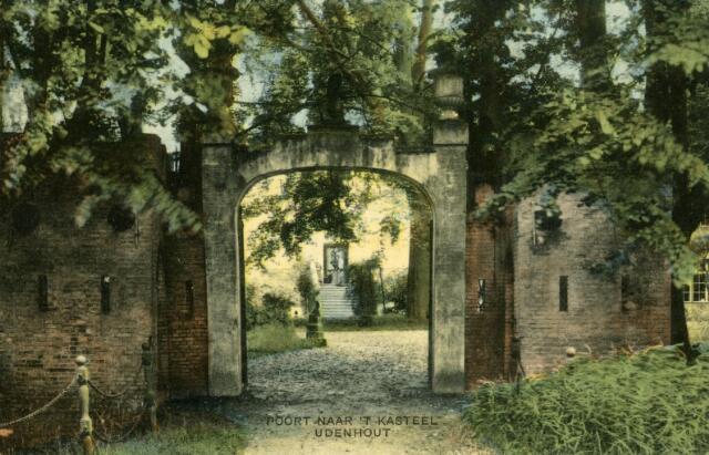 600442 - Ingangspoort kasteel de Strijdhoef aan de Schoorstraat